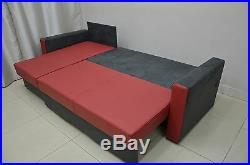 100%real Leather Corner Sofa Bed'bobby' Best Price, Quality, Springs Inside