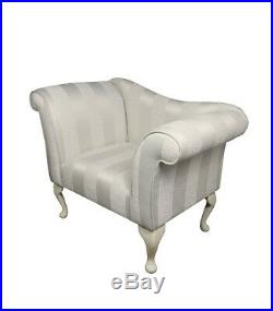 37 Small Chaise Longue Lounge Seat Armchair Arm Chair Oyster Fabric & Bolster