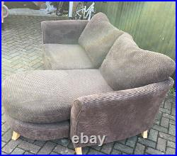 3str Sofa -DFS- Brown -3str Chaise (vgc)/reupholstery Project