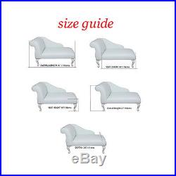 41 Small Chaise Longue Lounge Sofa Bench Chair Seat Baby Pink Fabric Queen Anne