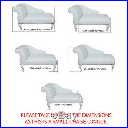 41 Small Chaise Longue Lounge Sofa Bench Seat Chair Corn Fabric Queen Anne UK