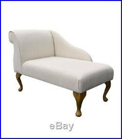 41 Small Chaise Longue Lounge Sofa Bench Seat Chair Kenton Fabric Queen Anne UK