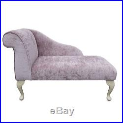 41 Small Chaise Longue Lounge Sofa Bench Seat Chair Pastiche Pink Queen Anne UK