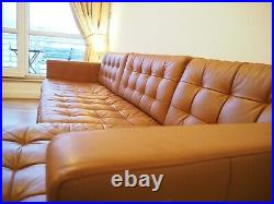 4 Seater Sofa With Chaise Longue Real Leather