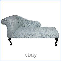 52 Chaise Longue Lounge Sofa Day Bed Seat Chair Blue Medallion Fabric UK