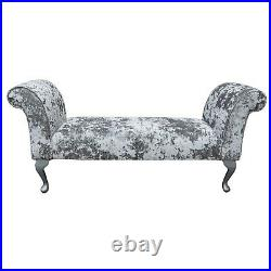 56 Large Chaise Longue Lounge Sofa Day Bed Seat Chair Lustro Chenille Fabric UK
