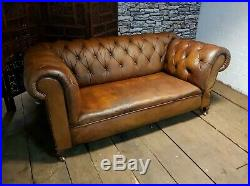 Antique Chesterfield 3 Seater Dropdown Chaise Lounge