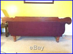 Antique Mid Victorian Mahogany Chaise Longue / Double Ended Sofa / Settle