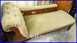 Antique Victorian Edwardian Chaise Longue Day Bed Sofa Settee