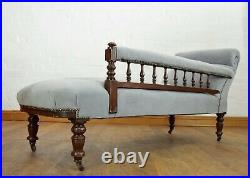 Antique carved chaise longue day bed sofa settee