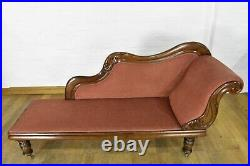 Antique style carved chaise longue day bed sofa settee