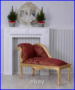 Baroque Style Sofa Marie Antoinette Chaiselongue Red Rococo Style