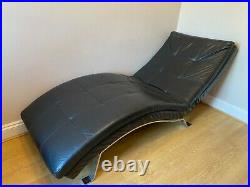 Black Leather Chaise / Recliner