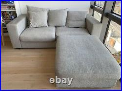 BoConcept sofa with two chaise longue, greywidth204cmheight60cm
