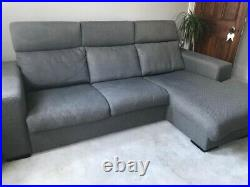 Bo Concept Nago 3 seater Chaise Longue Sofa Grey, North London collection