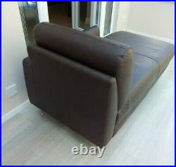 Brown Leather Chaise Longue Lounge Daybed Excellent condition