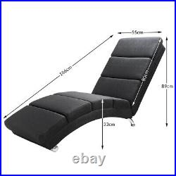 CASARIA Sofa Bed Lounge Relaxing Chaise Longue Faux Leather Single Recliner Seat
