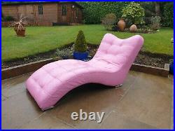 Chaise Barbie Pink Leather Italian Lounge Designer Free Delivery See Info