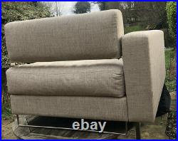 Chaise Longue 2 Seater Sofa Beige