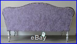 Chaise Longue Lounge Sofa Bench Seat in Crushed Purple Velvet. Handmade in UK
