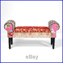 Chaise Longue Window Seat Wing Bench Sofa Chair Patchwork Furniture Design UK
