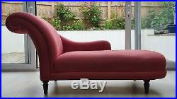 Chaise Longue with left-hand armrest by Laura Ashley in dusky pink (used)