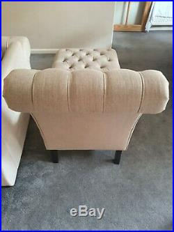 Chaise Lounge Contemporary Beige