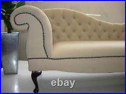Chaise Lounge Designer Style Lounge Retro Sofa Buttoned Back Double Ended