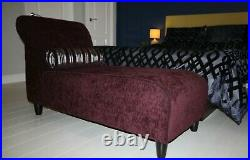 Chaise Lounge Sofa Red Wine L1450 height 820 seat height 435 D610 mm plus rug