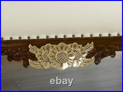 Chaise longue Joana English Baroque style sofa day bed walnut and gold leaf faux