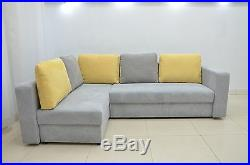 Cheap! Corner Sofa Bed Teddy Ii, Soft Waffle Fabric, Available In All Colours