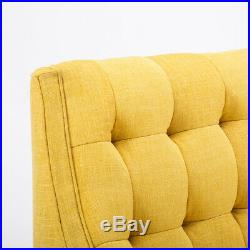 Chenille Armchair Buttoned Chair Chaise Longue Sofa with Footrest Stool Fireside