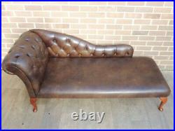Chesterfield Leather Luxury Chaise Lounge (UK Delivery possible)