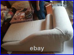 Churchfield chaise longue double sofa bed beige perfect condition £900 new