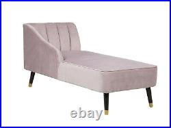 Contemporary Pink Velvet Chaise Lounge Clearance Price