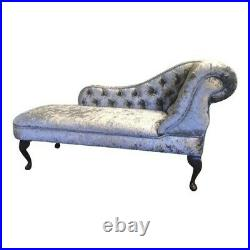 Crushed Velvet Tufted Chesterfield Chaise Lounge Sofa Bedroom Accent Chair Bench