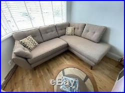DFS French Connection Corner Sofa With Chaise Longue