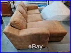 DFS Left Hand Facing Chaise End Sofa, Real Leather, Tan RRP £1499