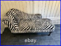 Deluxe Chaise Longue Designer Vintage Style Lounge Day Bed Retro Sofa