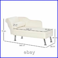 Deluxe Chaise Longue Designer Vintage Style Lounge Day Bed Retro Sofa With Cushion