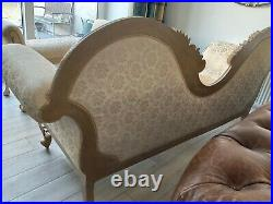 Double Ended Gold & IVORY French Louis Ornate style Chaise Longue Sofa Wedding