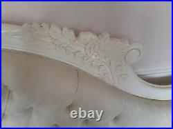 Double Ended IVORY French Louis Ornate style Chaise Longue Sofa Wedding