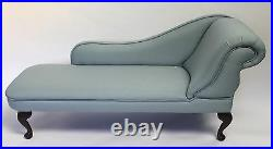Duck Egg Linen Tufted Chesterfield Chaise Lounge Sofa Bedroom Accent Chair Bench