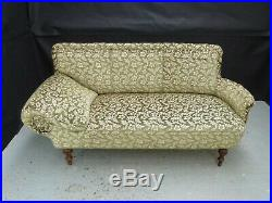 EB807 Green Velour Chaise Longue Sofa Vintage Lounge Retro Settee Interiors