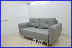 Elegant Sofa 2 Seater With Storage Inga, Available In All Colours Of Fabric