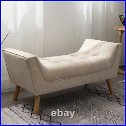 Extra Large Ottoman Window Seat Chaise Longue Bench Chair Chenille Lounge Tufted