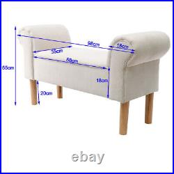Fabric/Velvet Bedroom Chaise Longue Window Seat Bed End Sofa Bench Ottoman Chair