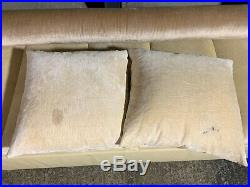 Fabulous Flexform leather & fabric day bed chaise longue gable sofa settee couch