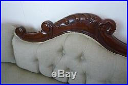 French Chateau Chaise Lounge In A Beautiful Mahogany Finish Handmade Chaise