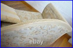 French country bergere cane chaise longue day bed sofa settee